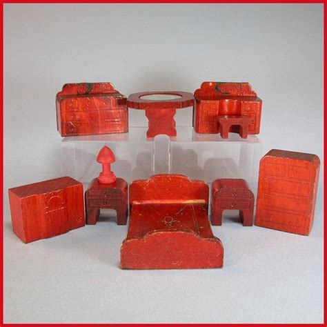dollhouse 3 4 scale 10 pieces of nancy forbes wooden dollhouse furniture 1945