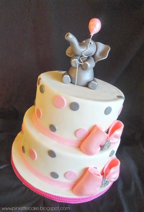 Elephant Baby Shower Cake by Pink Cake Elephant Theme Baby Shower Cake