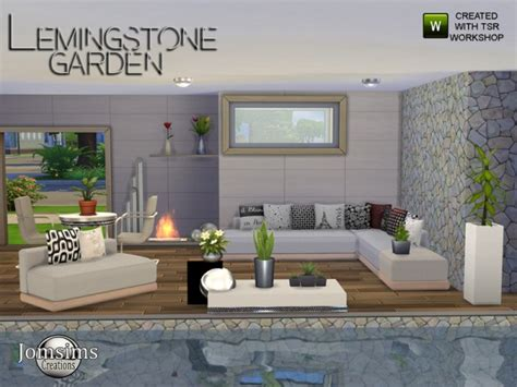 the sims resource lemingstone modern garden by jomsims