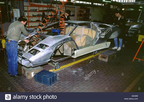Lamborghini Factory Location Lamborghini Factory 1988 Countach Construction Stock