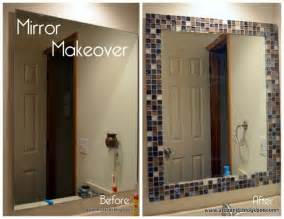Diy Bathroom Mirror Frame Ideas by Diy Glass Tile Mirror Frame New Idea For That Tile You