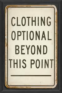 Skeleton Key Wall Decor Clothing Optional Beyond This Point Print Contemporary
