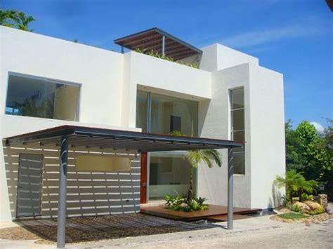 cocheras techadas fachadas minimalistas fachada de casa minimalista con