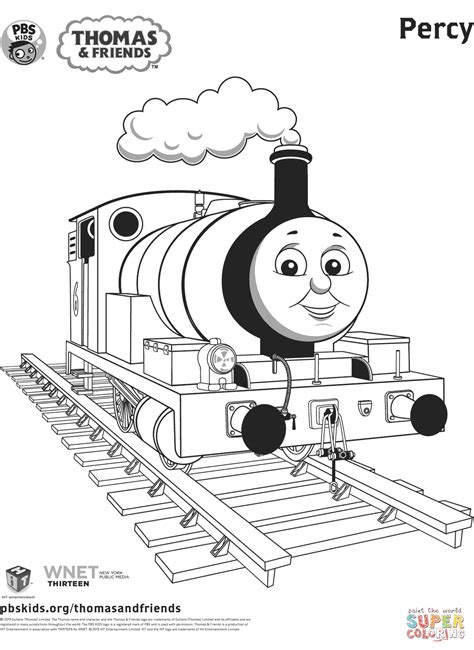 Percy From Thomas Friends Coloring Page Free Printable The Tank Engine Colouring Pages To Print