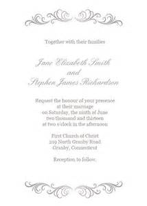 silver wedding invitation templates silver flourish wedding invitation 72 beautiful wedding