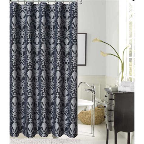 silver fabric shower curtain lavista jacquard silver black polyester fabric shower