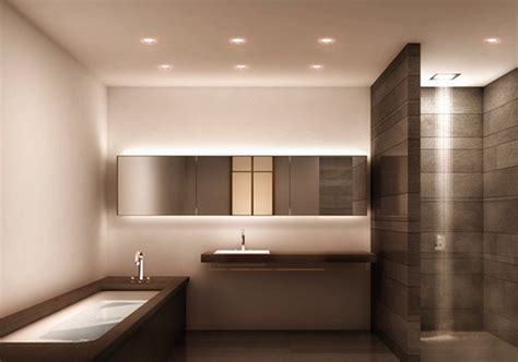 modern bathroom lighting warm wall modern bathroom