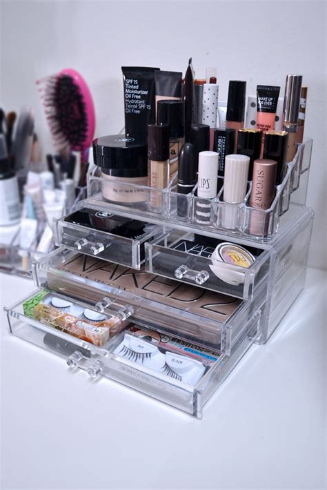 Acrylic Make Up Organizer Type D 006 how i store my makeup the pink stilettos