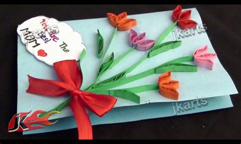 Glue Gift Card - card invitation design ideas diy paper quilling greeting card for mothers day paper