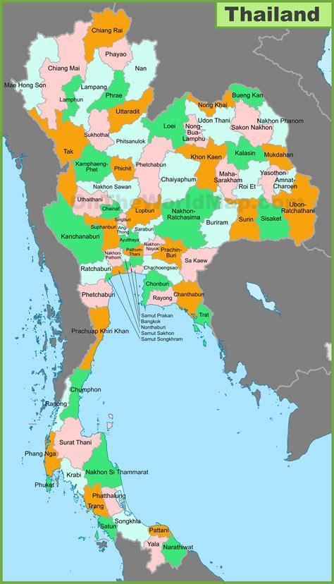 map thailand thailand provinces map