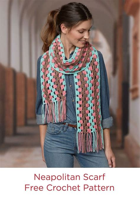 jennifer s scarf free crochet pattern from red heart yarns 248 best stitch a hug charity projects images on