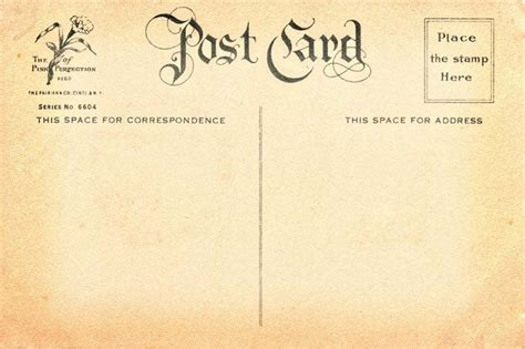 vintage postcard template free vintage postcard back 7 flickr photo
