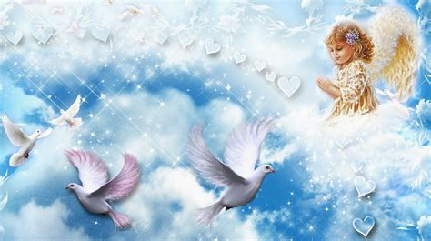 wallpaper background angels angels and doves wallpaper beautiful desktop wallpapers 2014