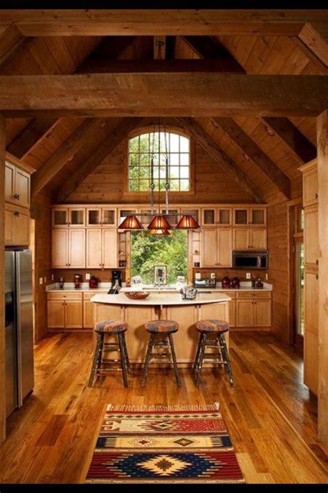 kitchen cabin log cabin kitchen home sweet home pinterest