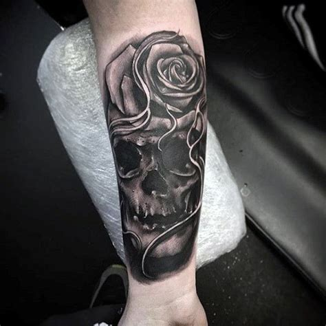 skull forearm tattoos 100 forearm sleeve designs for manly ink ideas