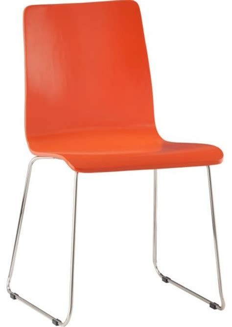 orange chair echo orange chair modern outdoor lounge chairs by cb2