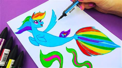 Hso Rainbow rainbow dash sea pony from my pony how to