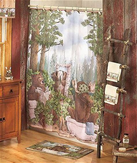 moose and bear bathroom decor the o jays towels and showers on pinterest