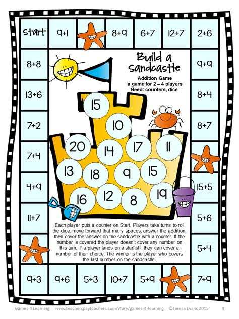printable subtraction board games ks1 fun games 4 learning math games makeover