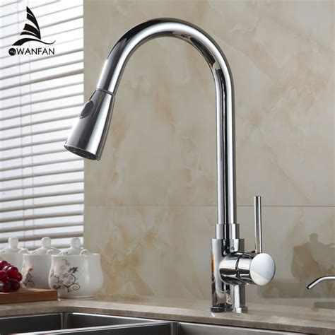 touch kitchen faucets free shipping new pull out touch free shipping new design pull out faucet chrome swivel