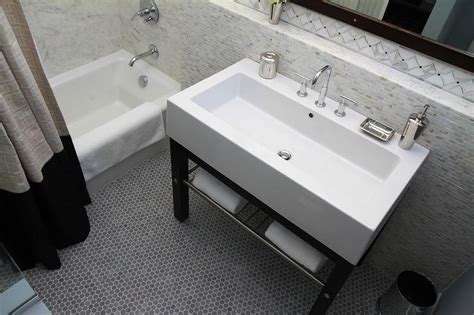 bathroom backsplash marble shelf contemporary bathroom