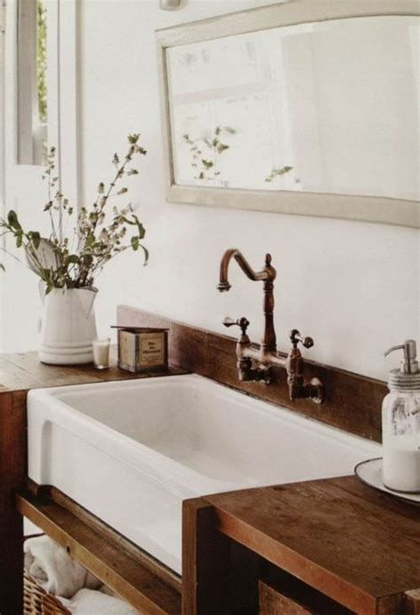wood counter bathroom 30 rustic countertops that add coziness to your home