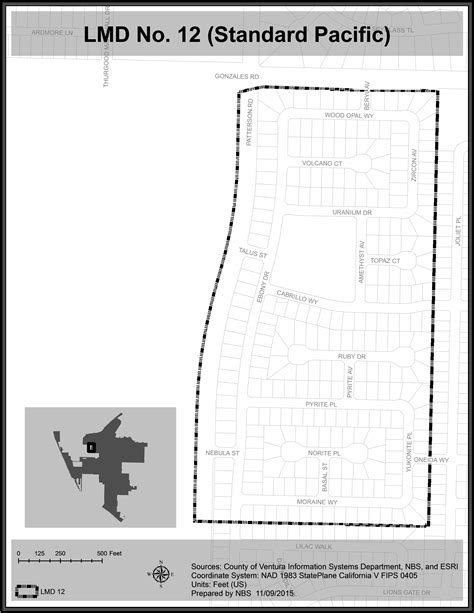 district boundary maps city  oxnard