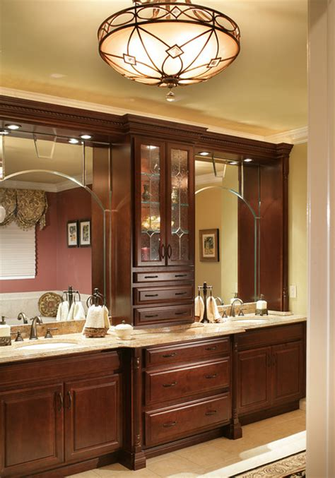 Hutch Metro Center Bathroom Vanity Cabinets And Lighting Traditional