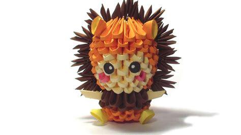 odigami de leon en 3d 3d origami lion kid youtube