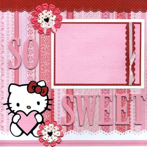 layout coc hello kitty hello kitty girly scrapbook layout paper piecing utpm