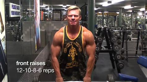 nick olsen nick olsen work out series shoulders and biceps youtube