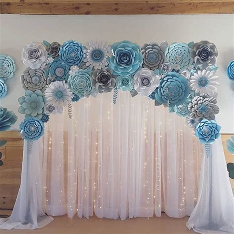 Baby Shower Backdrop by Baby Shower Backdrop Paperflowers Paper Paperflorist
