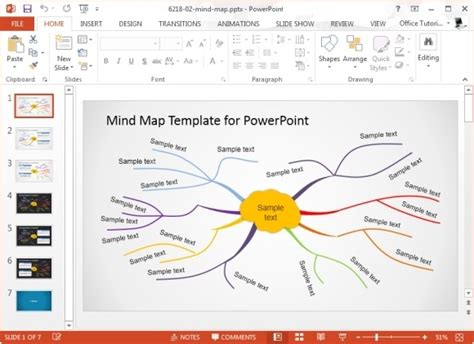 Concept Map Templates For Powerpoint Powerpoint Presentation Mind Map Template Microsoft Word