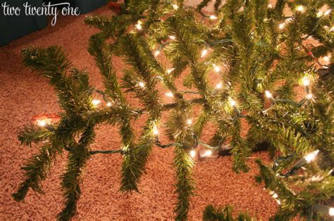 How To Put Lights On A Christmas Tree Two Twenty One How To String Lights On A Tree