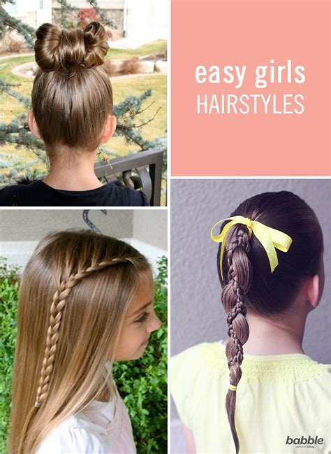 easy girls hairdo 6 quick easy hairstyles for little girls