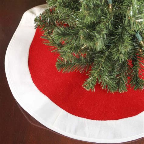 small red plush santa tree skirt christmas trees and
