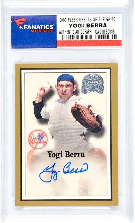 Steiner Sports Gift Card - yogi berra baseball slabbed autographed cards