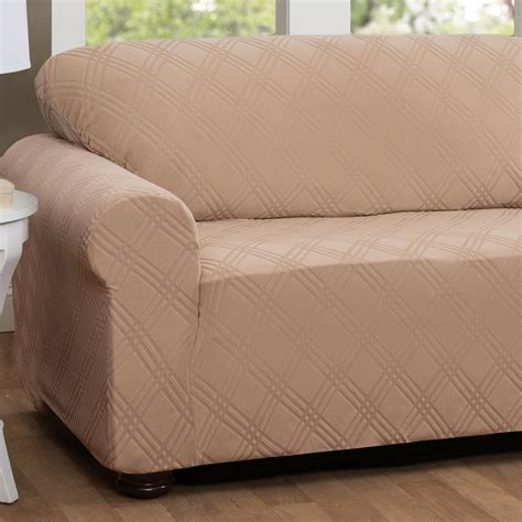 loveseat stretch slipcovers double diamond stretch sofa slipcovers