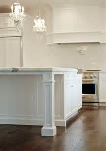 kitchen island with legs granite countertop support with pillar white traditional