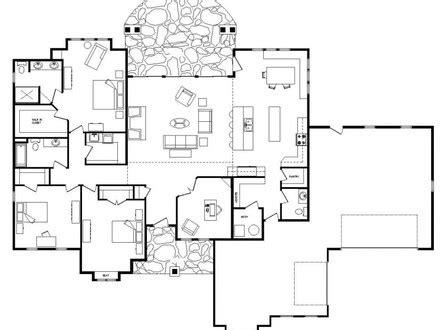one level living floor plans split ranch living room split ranch house floor plans one