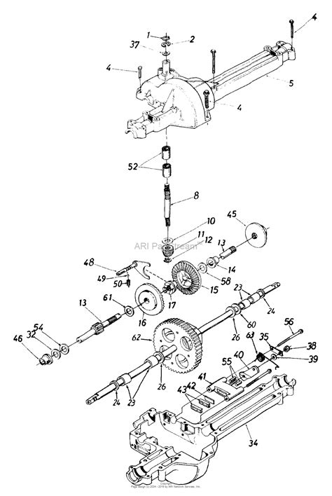 mtd yard machine parts diagram mtd 13ah660f352 1999 parts diagram for transmission