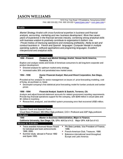 Resume Sample And Format by Sample Resume 85 Free Sample Resumes By Easyjob Sample
