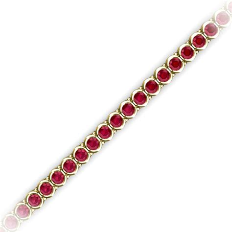 1 Ct Tw Tennis Bracelet by Ruby Channel Set Tennis Bracelet 4 23 Ct Tw In 14k Yellow
