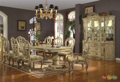 white dining room sets formal whitehall formal dining double pedestal table