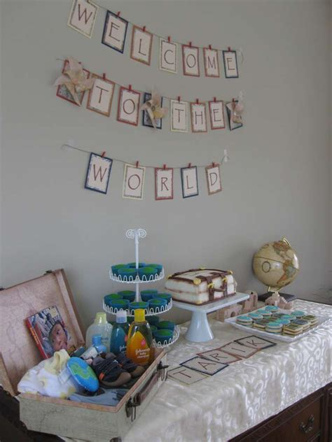 world baby shower party ideas photo