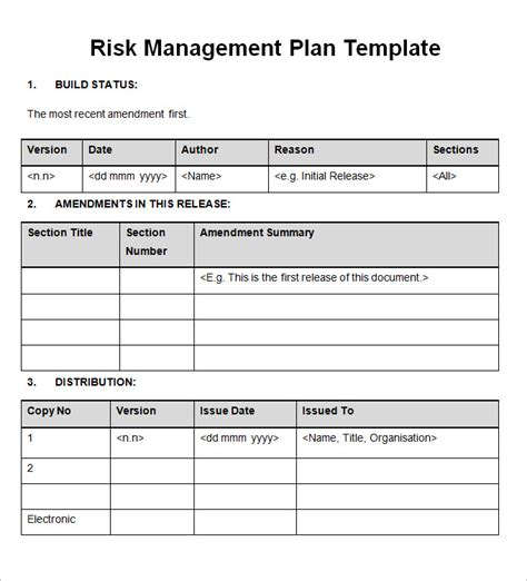 risk assessment program template importance of a risk management plan free