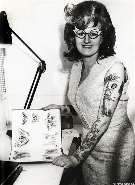 tattoo history in australia tattoo artist cindy ray in her studio australia c 1960 s