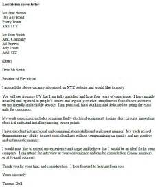 cover letter exle for an electrician cover letters