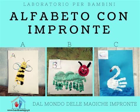 quante sono le lettere dell alfabeto italiano lettere alfabeto con impronte a b c lavoretti bambini