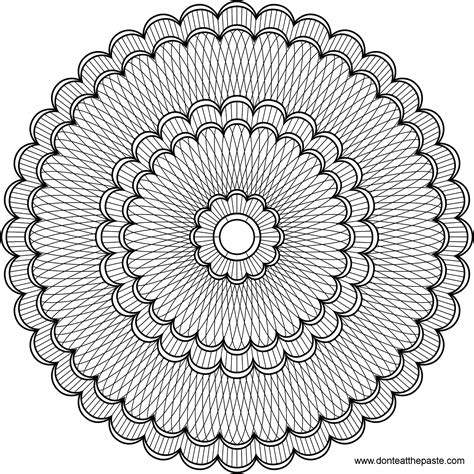intricate floral coloring pages don t eat the paste intricate mandala to color